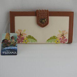 New Disney Moana Pua Floral Wallet Loungefly